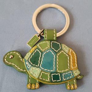 Coach turtle keychain